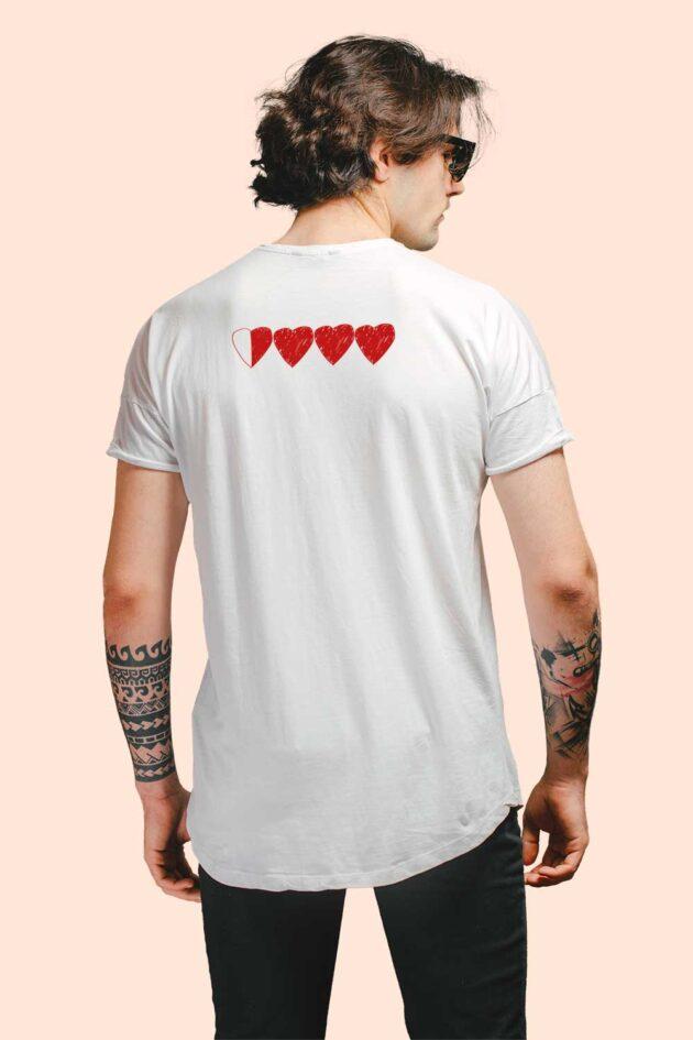 E. Camiseta blanca estampado corazón «For another chance»