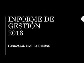 Informe de gestión Fundación Acción Interna 2016