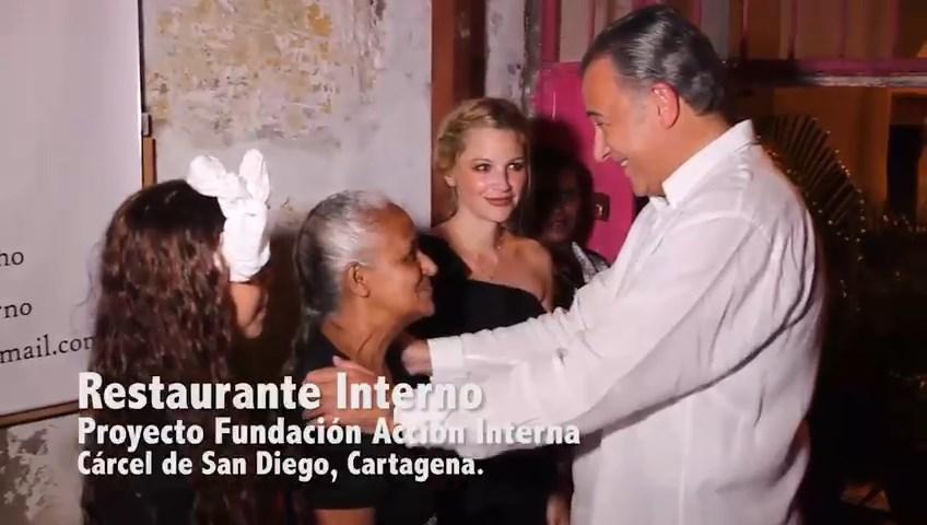 Presidente visita restaurante Interno
