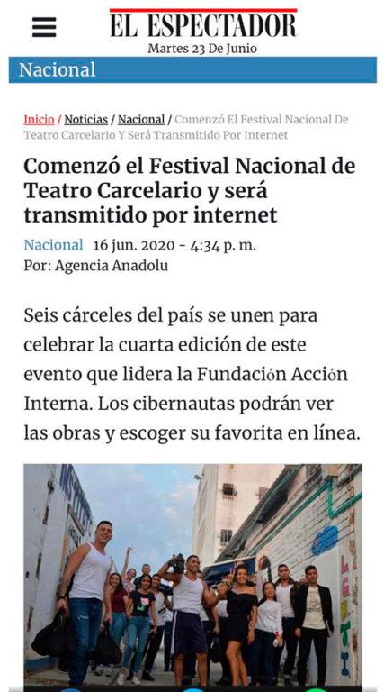 IV Festival de teatro Carcelario